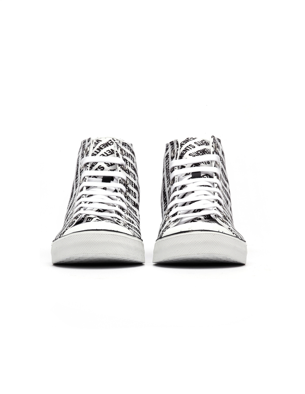 abc5ef45a934 Vetements Logo Printed Converse Sneakers - White.  750.00 300.00. Vetements