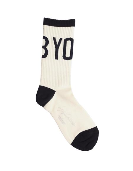 Yohji Yamamoto Logo Socks - White