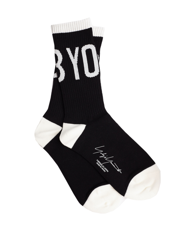 Yohji Yamamoto Logo Socks - Black/White
