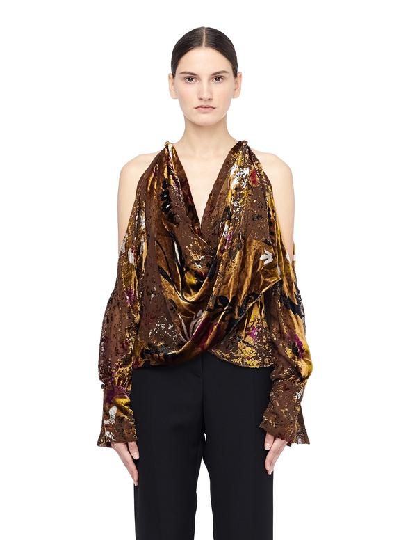 4da524871ff37a Urban Zen Velvet Blouse with Open Shoulders