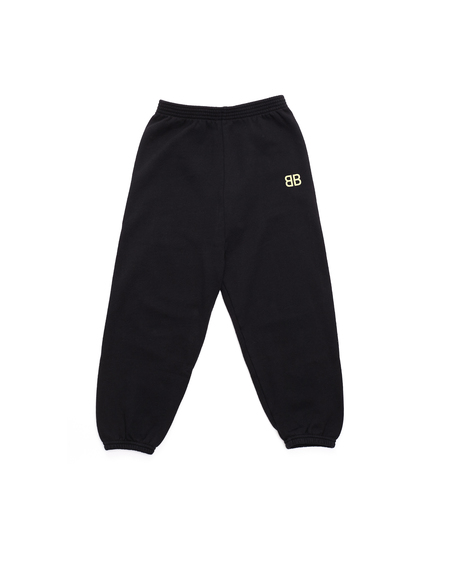 Kids Balenciaga Cotton Sweatpants - Black