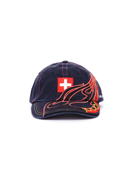 Vetements Embroidered Swiss Cap - Navy Blue
