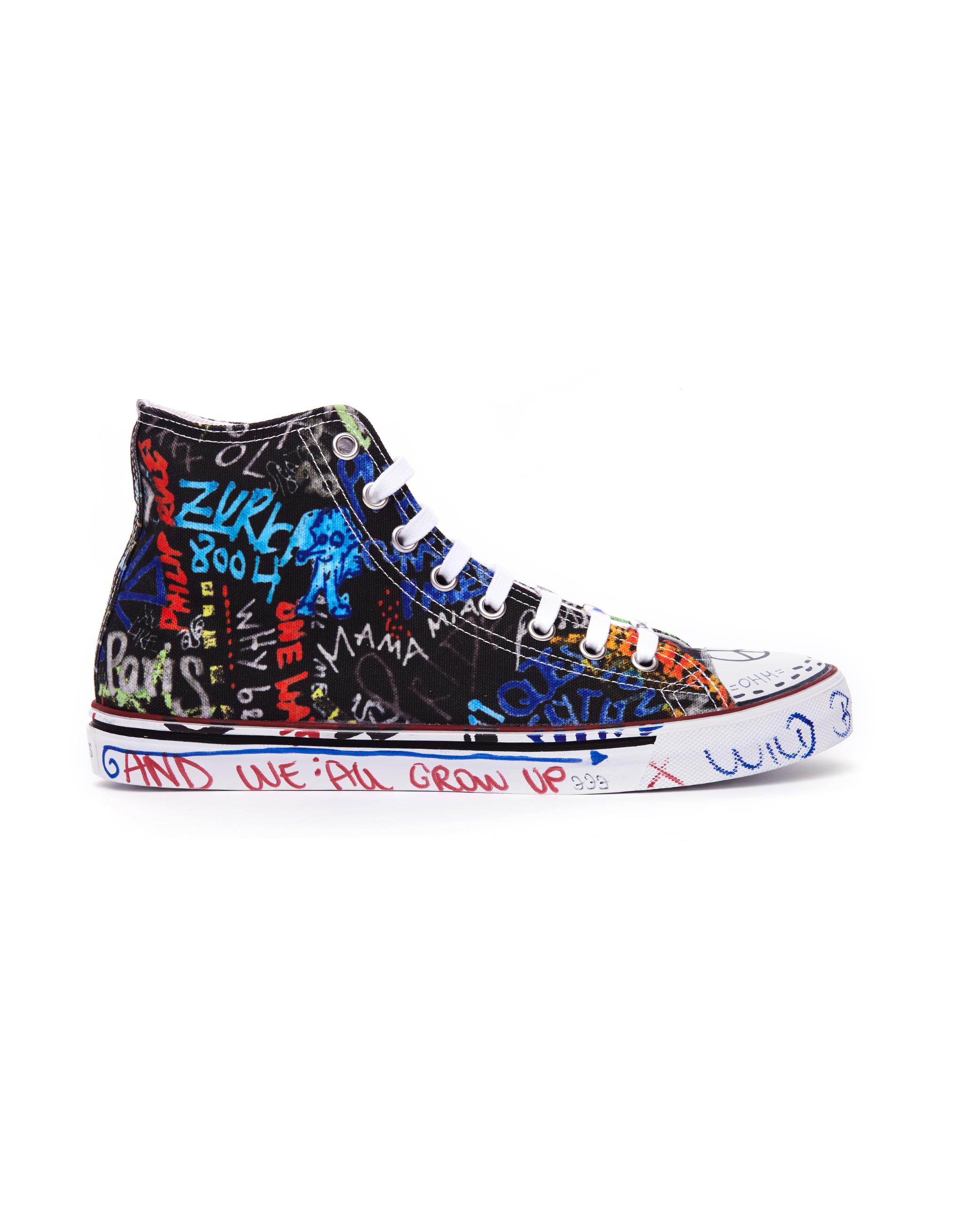 Vetements Graffiti Textile Sneakers