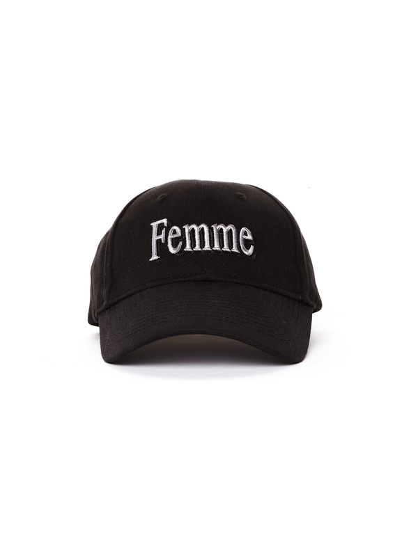 54eb2ae6 Balenciaga Femme Embroidered Cotton Cap - Black | Garmentory