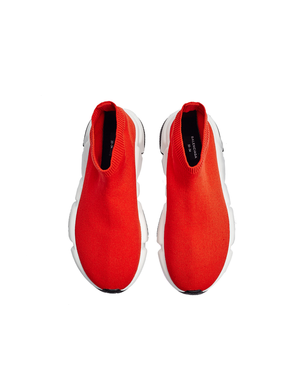 344d9fb1097 Kids Balenciaga Speed Trainers - Red. sold out