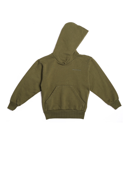 Kids Balenciaga Embroidered Hoodie - Green