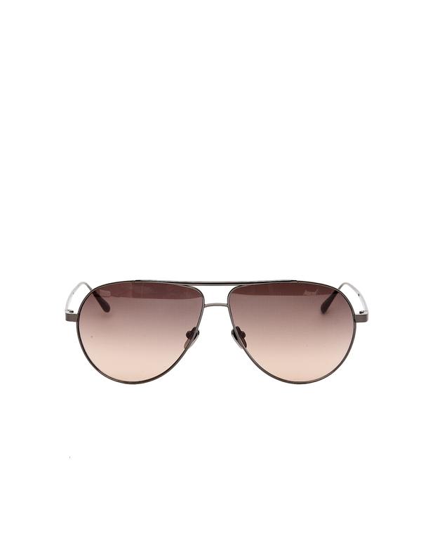 c3a3c585e8c Linda Farrow Luxe Aviator Sunglasses - Brown
