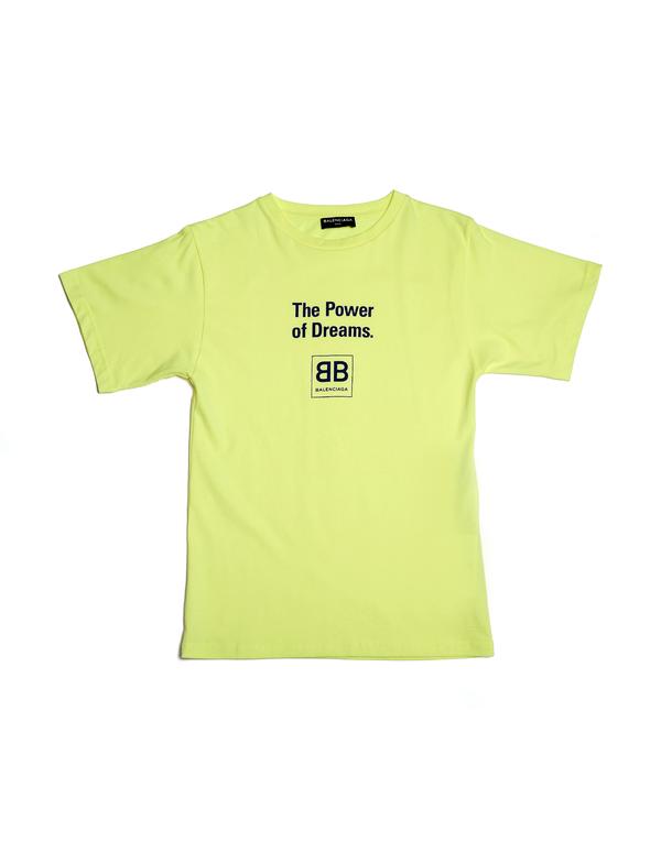 faad428e3cfb Kids Balenciaga The Power Of Dreams T-Shirt - yellow | Garmentory