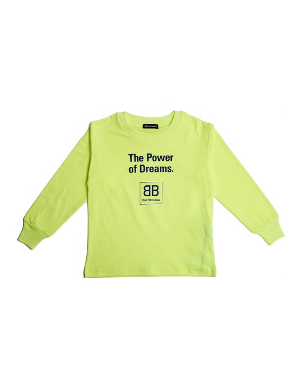 92a4370bbe08 Kids Balenciaga Long Sleeve T-Shirt - Yellow | Garmentory