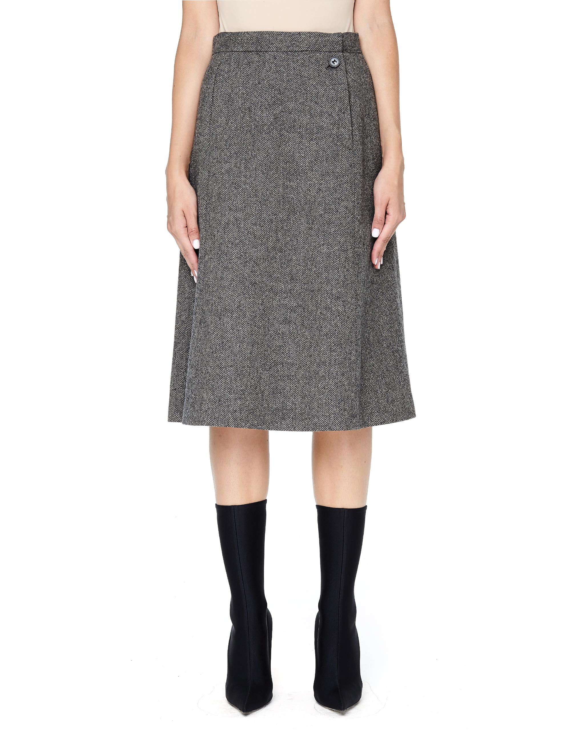 c8cfc4a766 Maison Margiela Herringbone V-shape Tweed Skirt | Garmentory