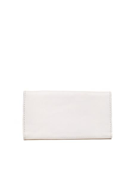 Guidi Kangaroo Leather Wallet - White