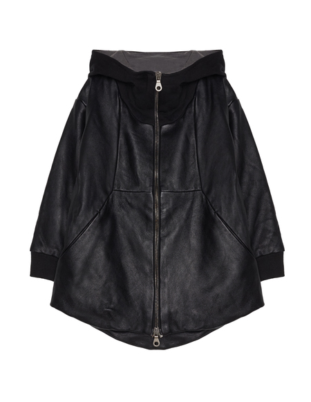 Kids Lost&Found Leather Jacket - Black