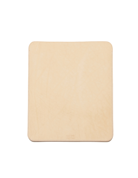 Isaac Reina Leather Ipad Case - Beige