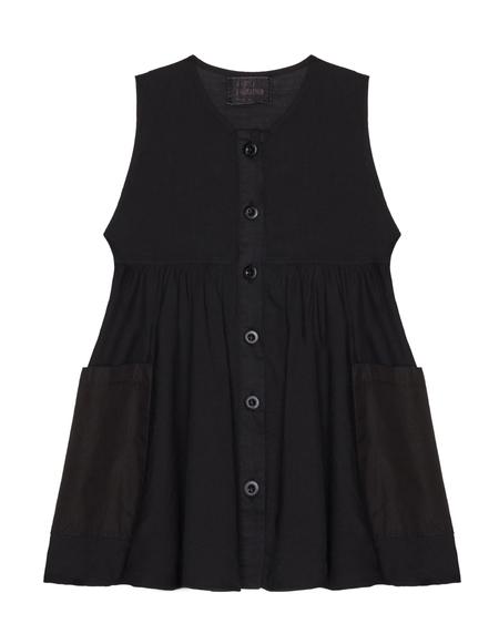 Kids Lost&Found Cotton Dress - Black