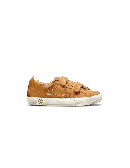 Kids Golden Goose Leather Sneakers - Brown