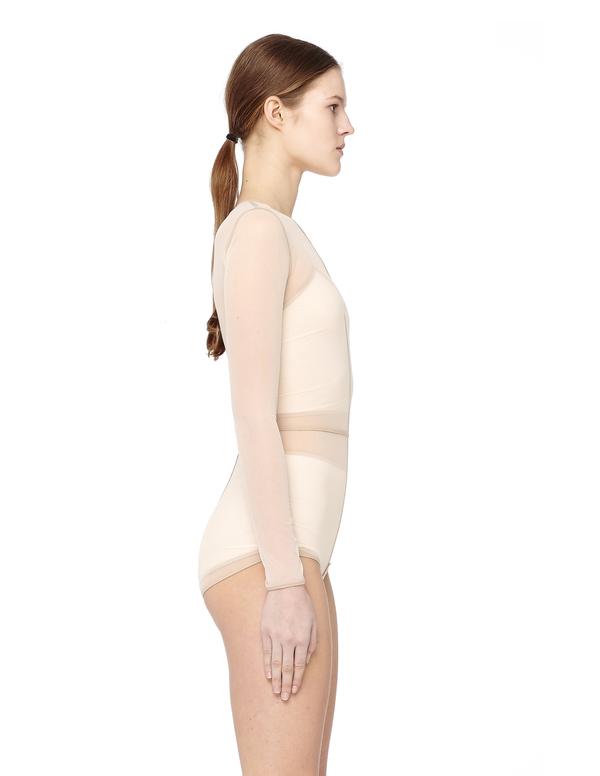 8b8d1d42d4 Ann Demeulemeester Mesh bodysuit - Beige