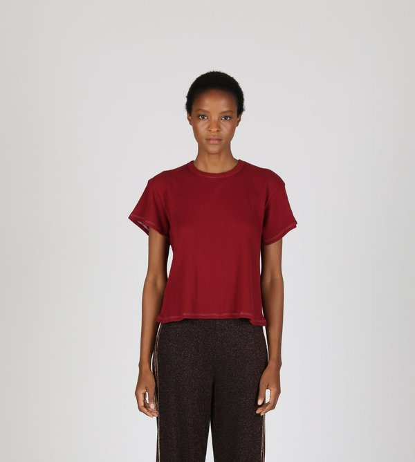 Liana Thermal Margo Tee - Maroon