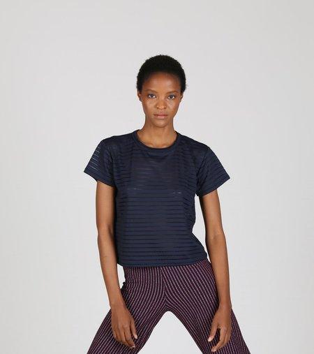 Liana Burnout Margo Top - Stripe