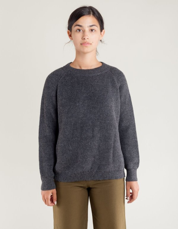 37dec826ee Ali Golden Chunky Pullover Sweater - Charcoal