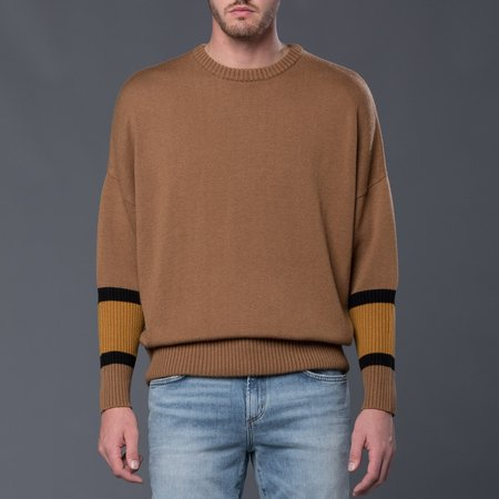Gustav Von Aschenbach Machine Knit Round Neck Sweater - Beige