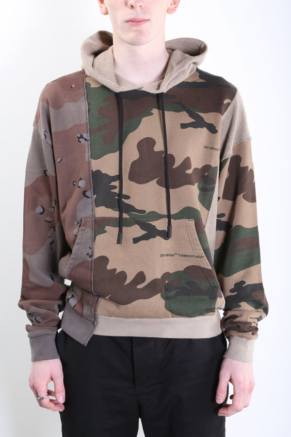Off White Co Virgil Abloh Reconstructed Hoodie Camo Garmentory