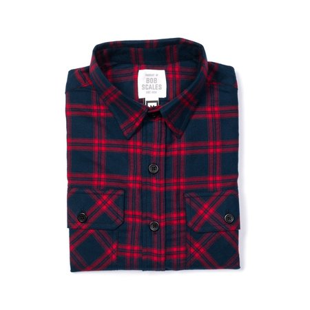 Product of Bob Scales WORK SHIRT - RED/NAVY PLAID