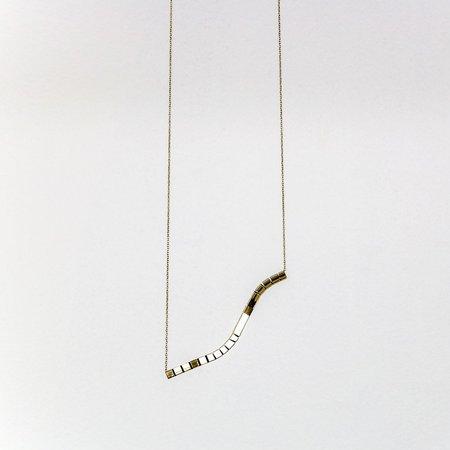 Anara Lil Swirl Necklace - Brass