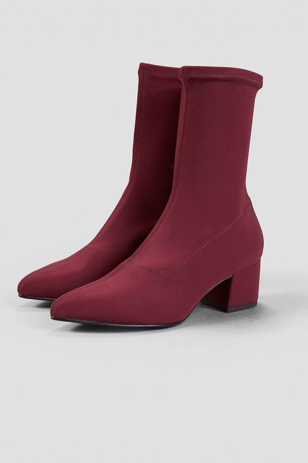 Vagabond mya stretch ankle boot - deep wine