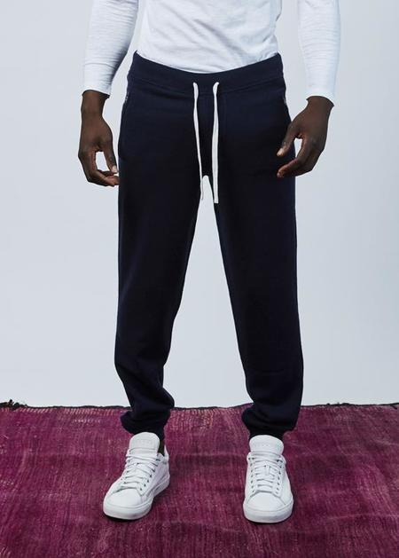 Allude Wool and Cashmere Blend Jogger - Navy
