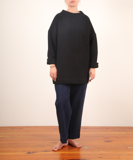 Hackwith Mockneck Tunic Sweater - Black