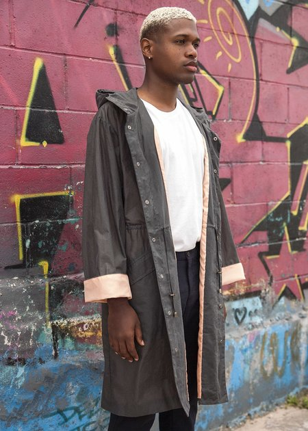 Unisex Trevor Nathan 1st Production Raincoat - Charcoal/Peach