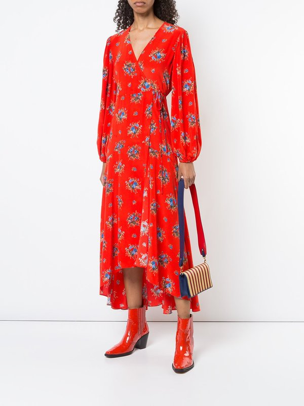 d8b5a997 Ganni Kochhar Floral Dress - Red | Garmentory