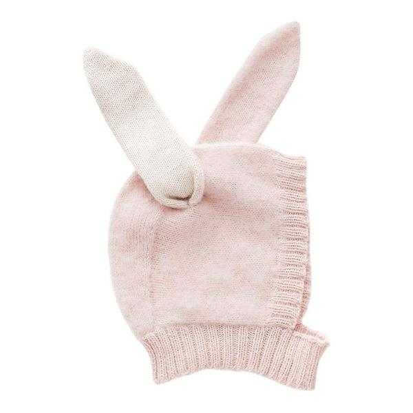 KIDS Oeuf NY Baby and Child Winter Hat Rabbit - Light Pink