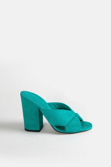 Alumnae Soft X-Slide Block Heel - Verde Camoscio