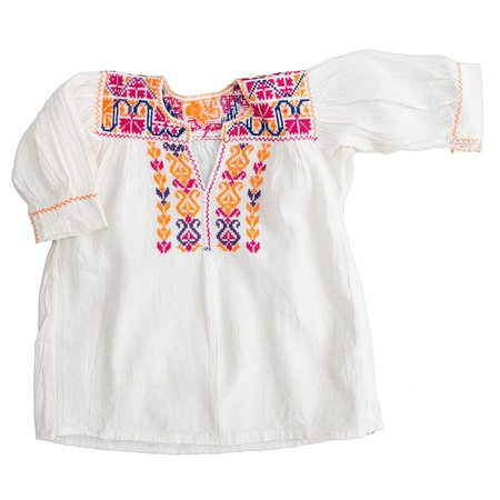 Kids Cabbages & Kings Handmade Embroidered Blouse/Dress