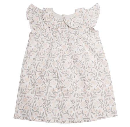 Kids Cabbages and Kings Peter Pan Collar Dress - Grey Alwar Floral