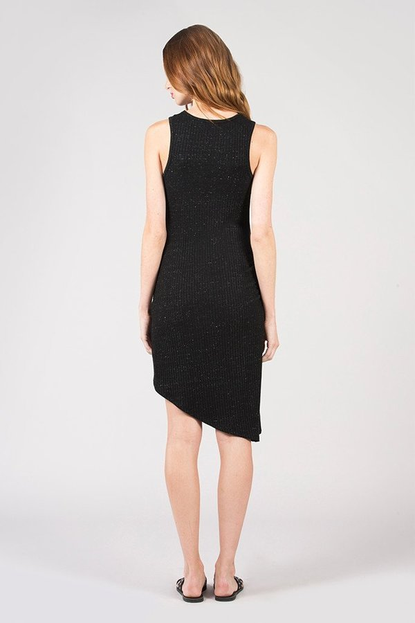 David Lerner Asymmetrical Ruched Dress Black Garmentory