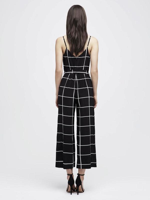 d0cdf758562 L Agence Jaelyn Camisole Jumpsuit - Black White