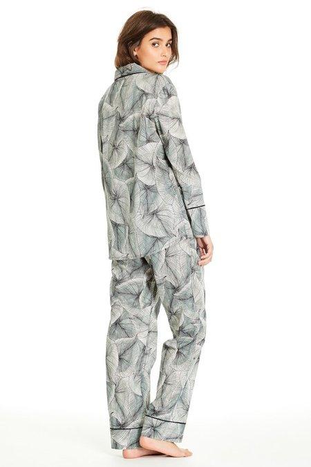 Maison Du Soir Vienna Long Sleeve Pant Set - Leaf