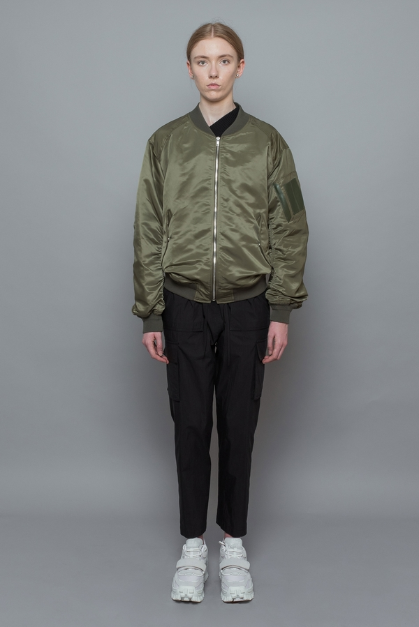883e96d6d Juun. J Embroidered Layered Bomber Jacket - Khaki
