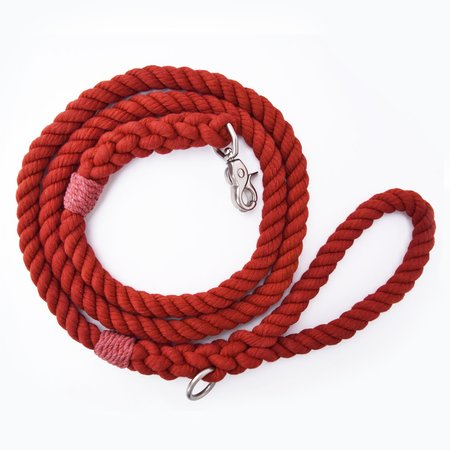 Moondog Design  Rope Leash - Burnt Orange