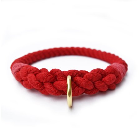 Moondog Design  Rope Collar - Red
