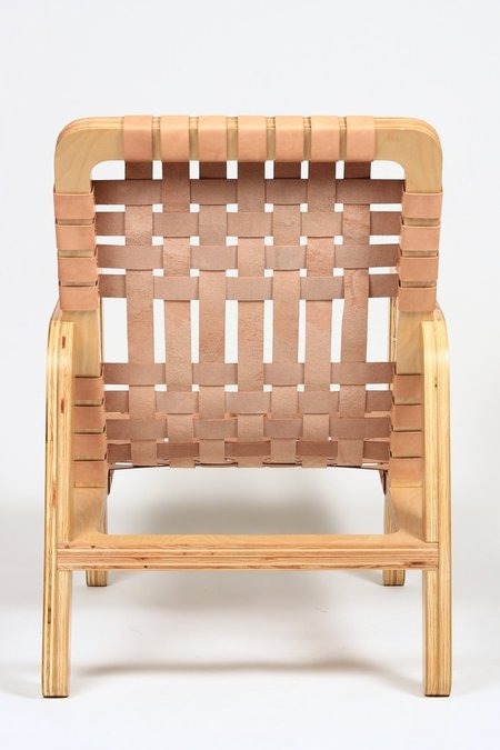 Pacific Wonderland Inc. Palapa Lounge Chair - Natural Leather