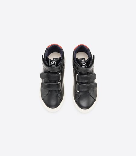 Kids Veja Esplar Mid Small Shoes - Black Pierre Rouille