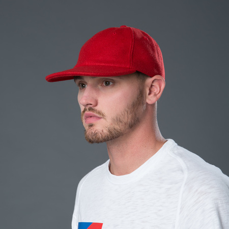 Freemans Sporting Club  Melton Wool Six Panel Baseball Cap - Red