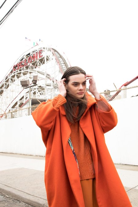 H. Fredriksson CAROLINE COAT - Orange Wool