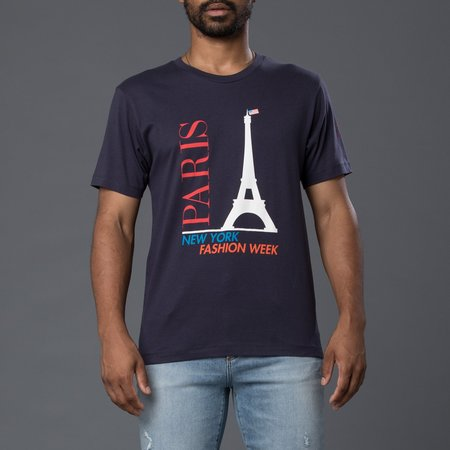 David Hart NYFW Paris Tee - Navy
