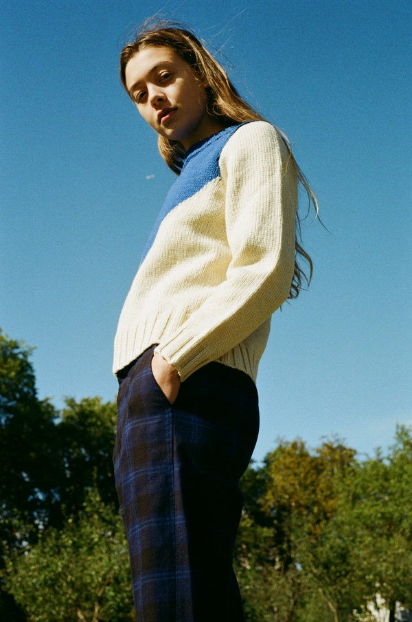 Caron Callahan Sandy Trouser - Blue Tartan