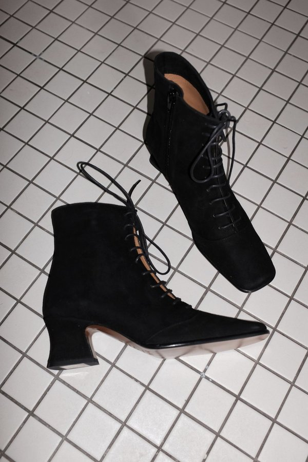 8766fc0f47f BY FAR Kate Suede Boots - BLACK on Garmentory