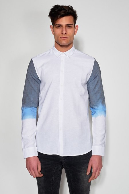 ANTIOCH SLEEVE SHIRT - WHITE/BLUE OMBRE